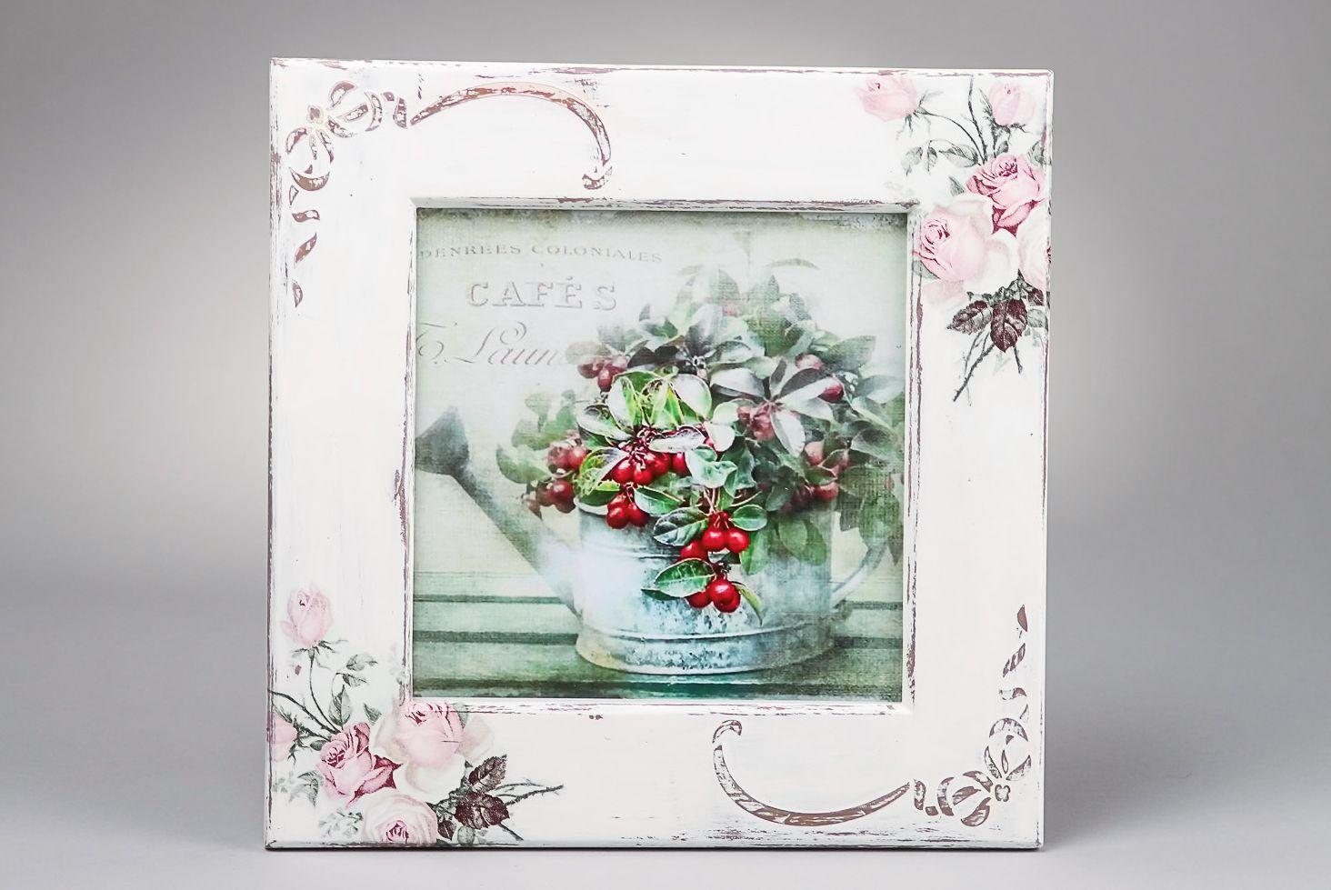 Marco para fotos Rosas delicadas, decoupage foto 1