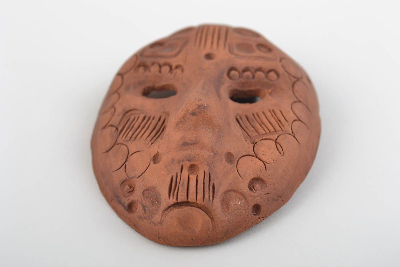 Handmade fridge magnet mask ceramic decorative mask decorative use only photo 4
