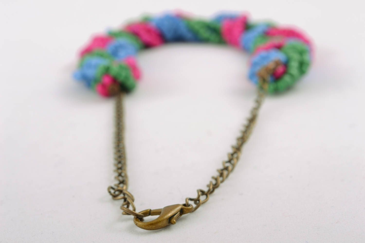 Beaded necklace with chain photo 3