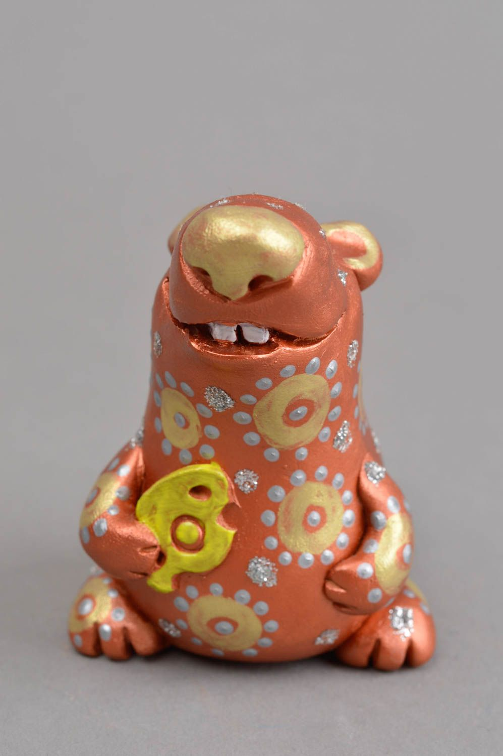 Clay whistle handmade ceramic figurine present for children clay animal whistle photo 2