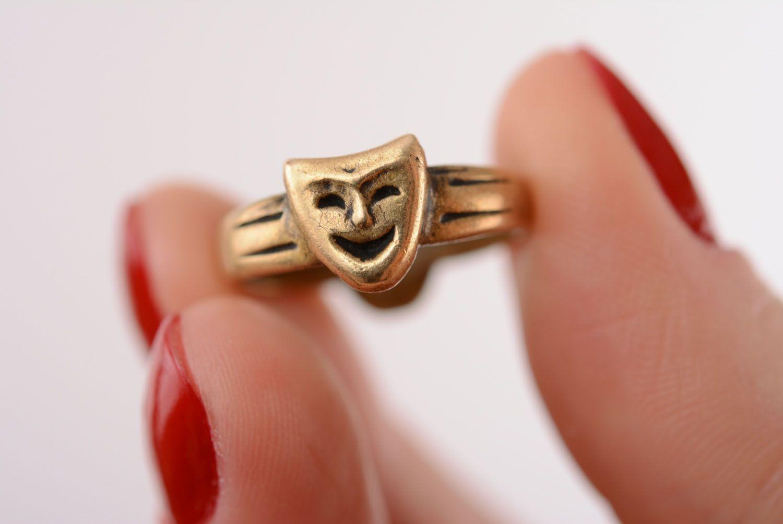 Кольцо из бронзы Маски фото 4