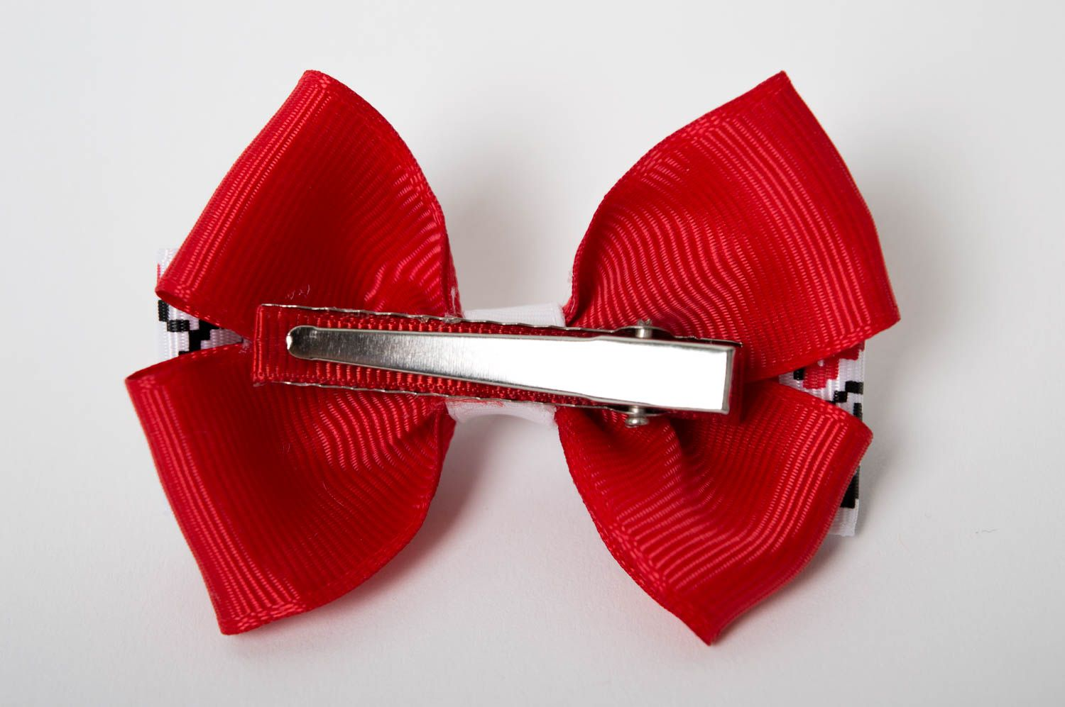 Handmade hair clip unusual hair bow designer accessory for girls gift ideas photo 3