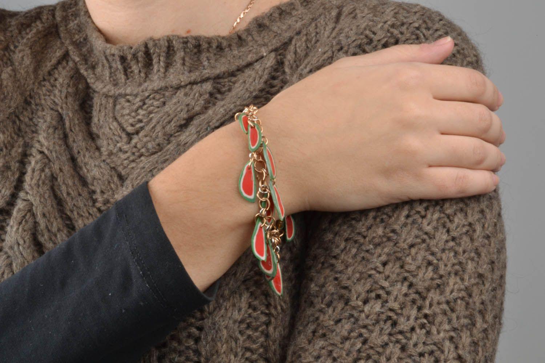 Armband mit Anhängern aus Polymerton foto 2