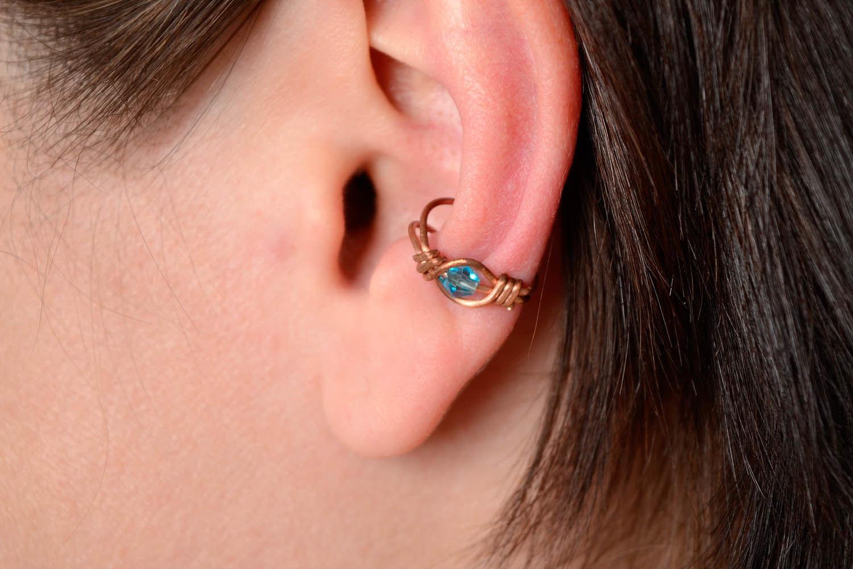 Ear cuff, wire wrap foto 5