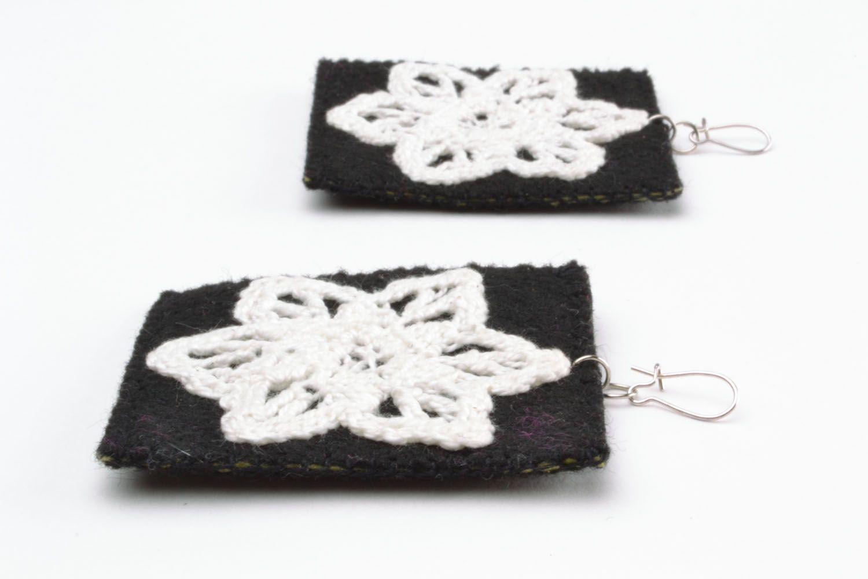 Fabric earrings photo 4