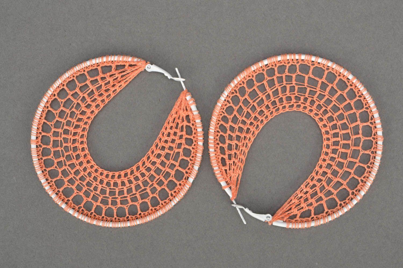 Handmade crocheted jewelry Orange photo 3