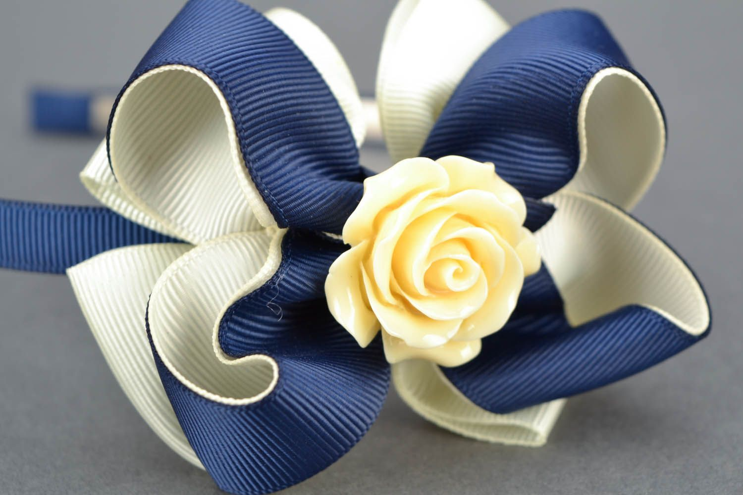 Headband with bow and flower photo 4