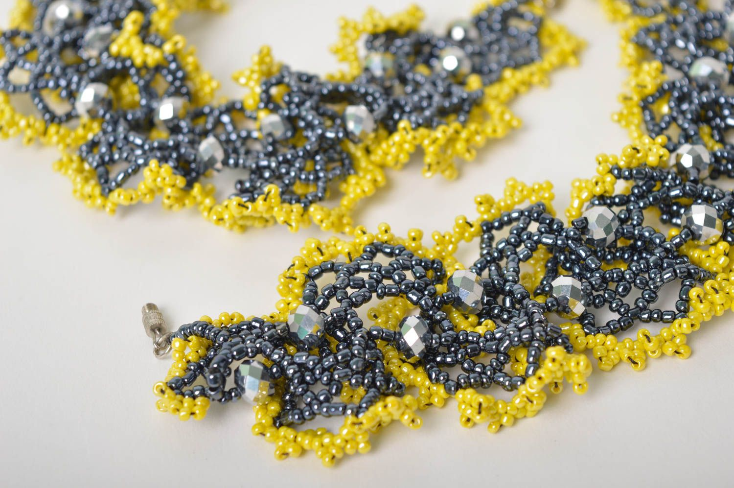 Beautiful handmade beaded necklace artisan jewelry designs fashion accessories photo 4