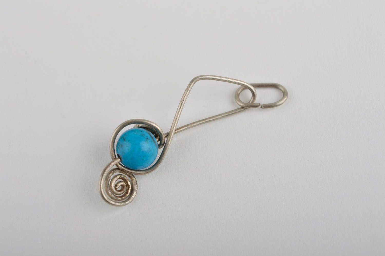 Stylish handmade metal neck pendant stone pendant beaded pendant design photo 3