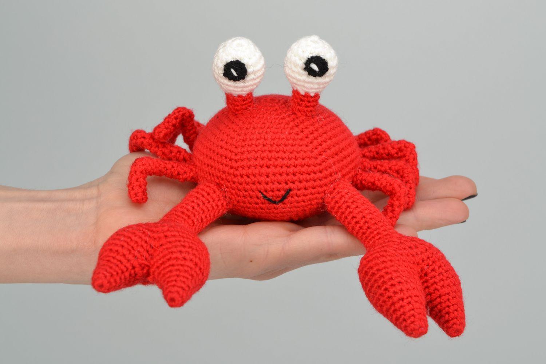 Handmade soft crochet toy Crab photo 2