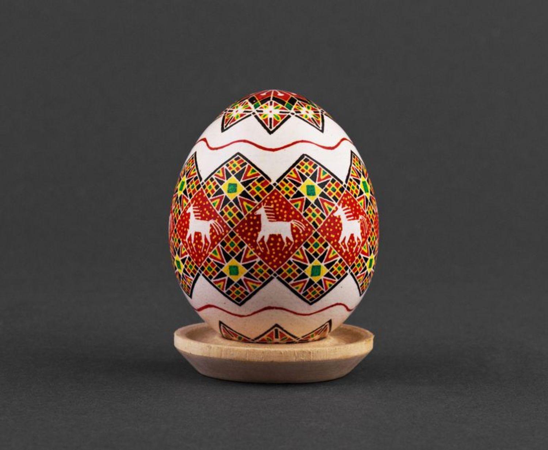Decorative painted egg Sunset photo 1