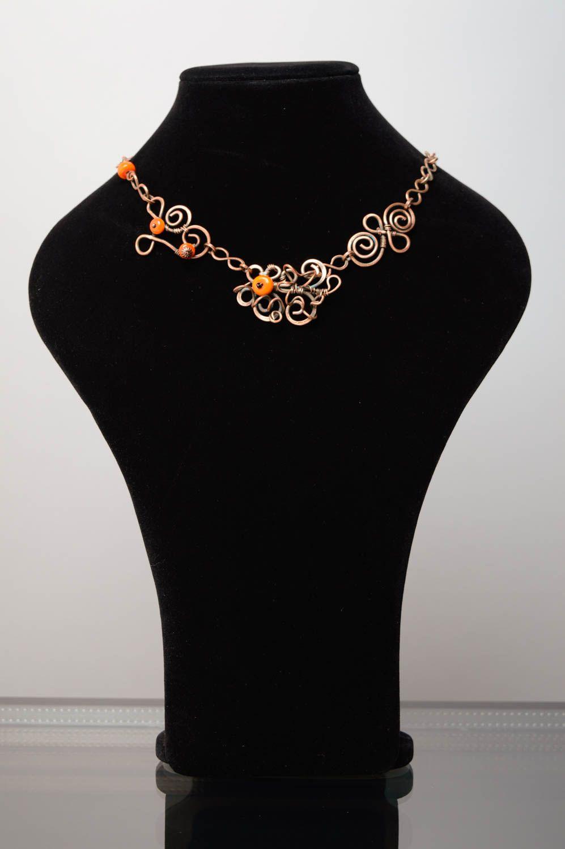Handmade Collier aus Kupfer  foto 2