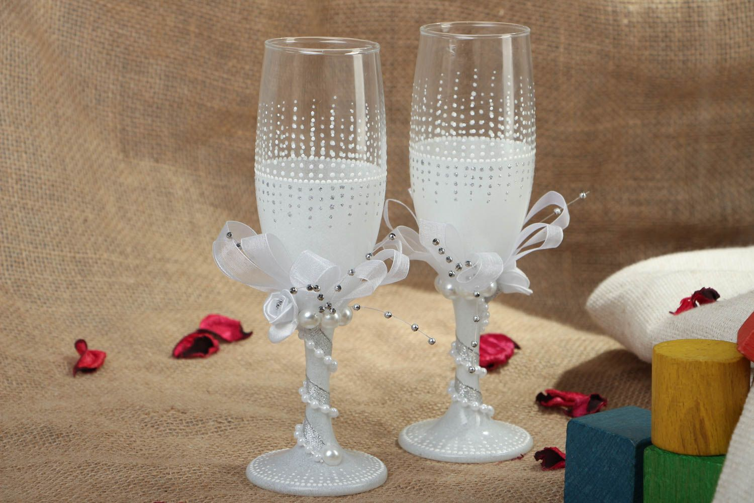 Wedding glasses for groom and bride photo 5