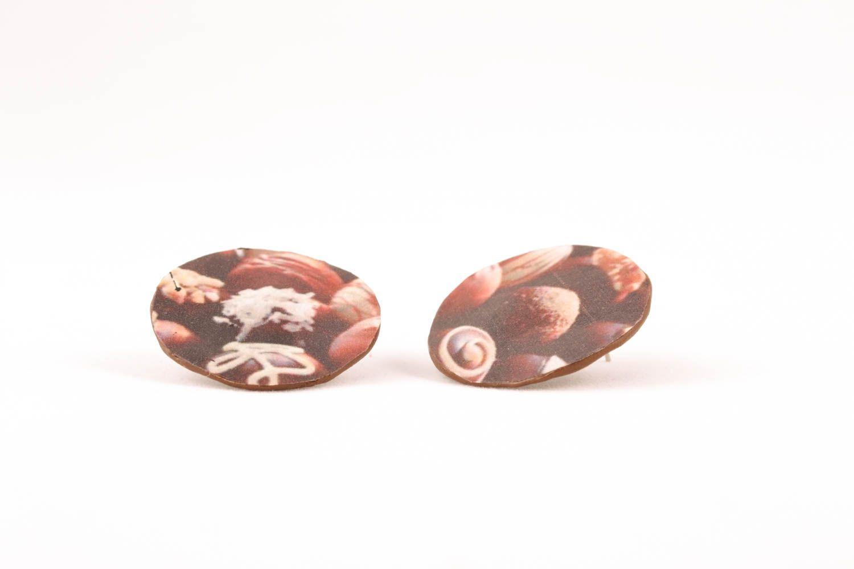 Оригинальные серьги-гвоздики фото 2