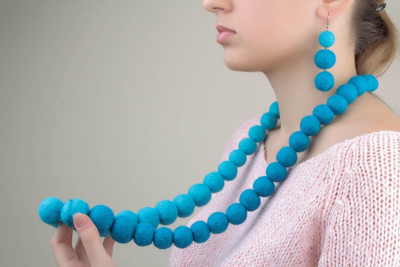 Woolen jewelry set photo 5