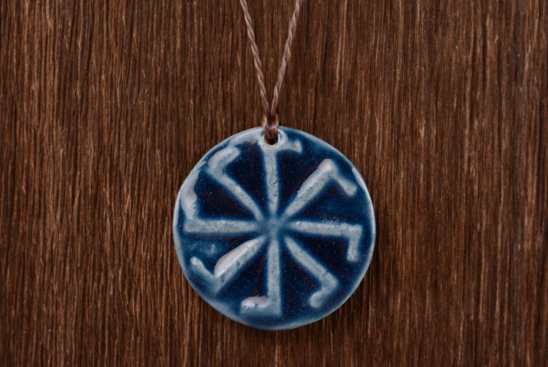 Ceramic pendant amulet Ladinets photo 4