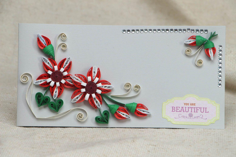 Поздравление, квиллинг поздравительные открытки цветы