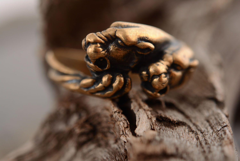 Ring aus Bronze Panther foto 1