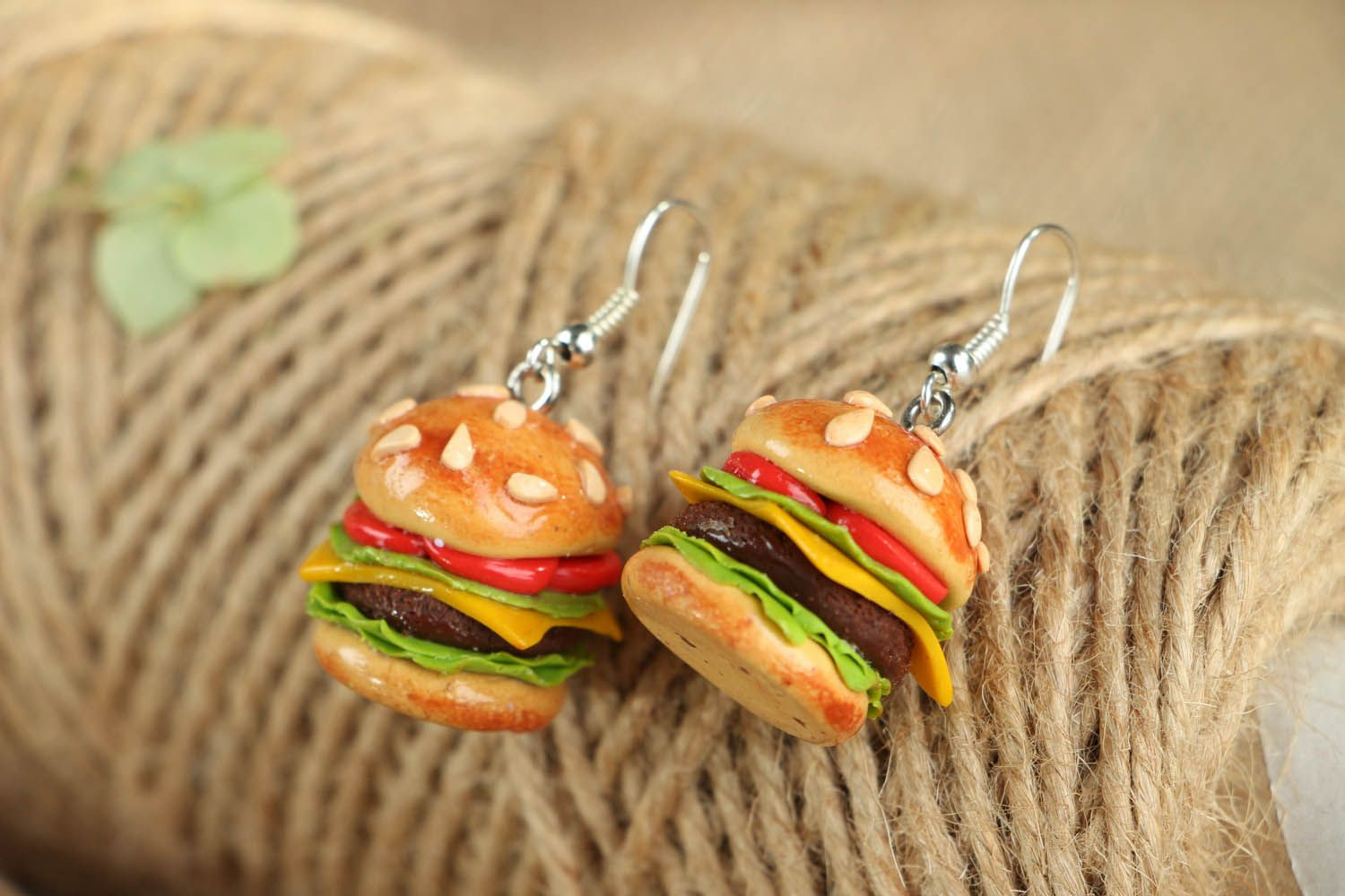 Cute polymer clay earrings  photo 3