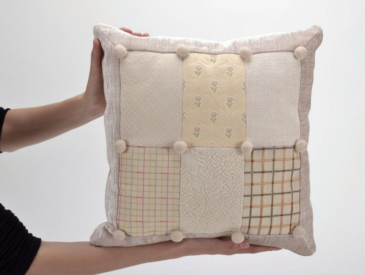 textiles and carpets Pillow made from cotton and polyester