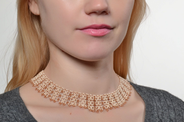 Handmade beaded necklace photo 5
