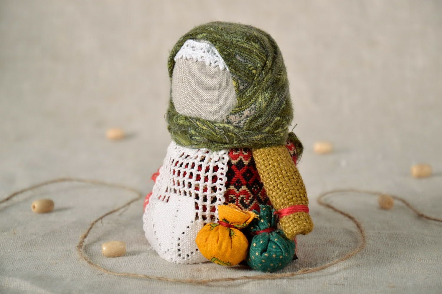 Grain doll made of linen photo 1