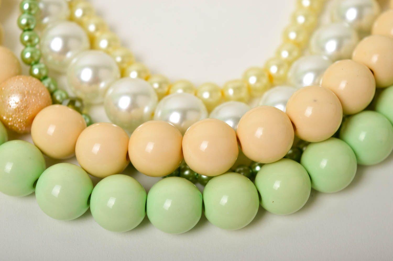 Damen Collier handgefertigt Modeschmuck Halskette Geschenk für Frauen schön foto 4