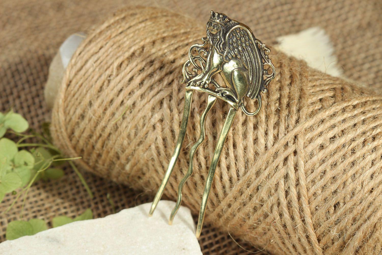 Гребешок для волос из бронзы  фото 5