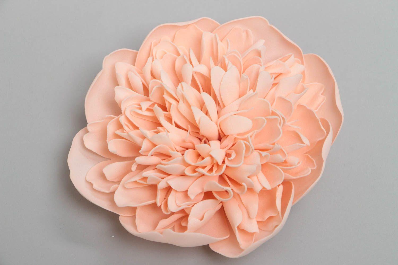 Zarte rosa Blumen Brosche aus Foamiran schön für Frauen künstlerische Handarbeit foto 2