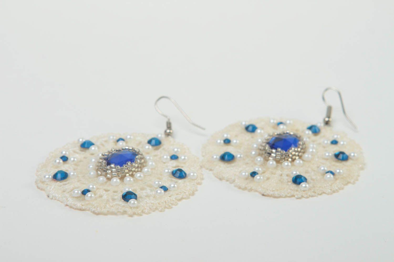 Серьги ручной работы серьги из бисера модные серьги дизайнерское украшение фото 3