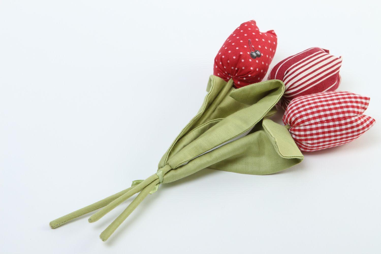 Madeheart flores de tela hechas a mano tulipanes - Flores de telas hechas a mano ...