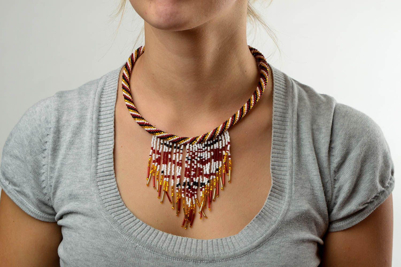 Rocailles Kette handmade Halskette Damen exklusiver Schmuck Damen Collier schön foto 1