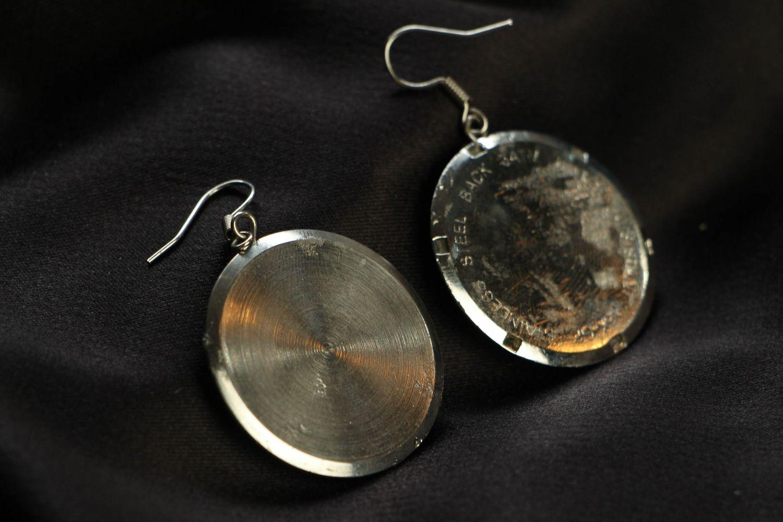 steampunk earrings Round metal earrings in steampunk style - MADEheart.com