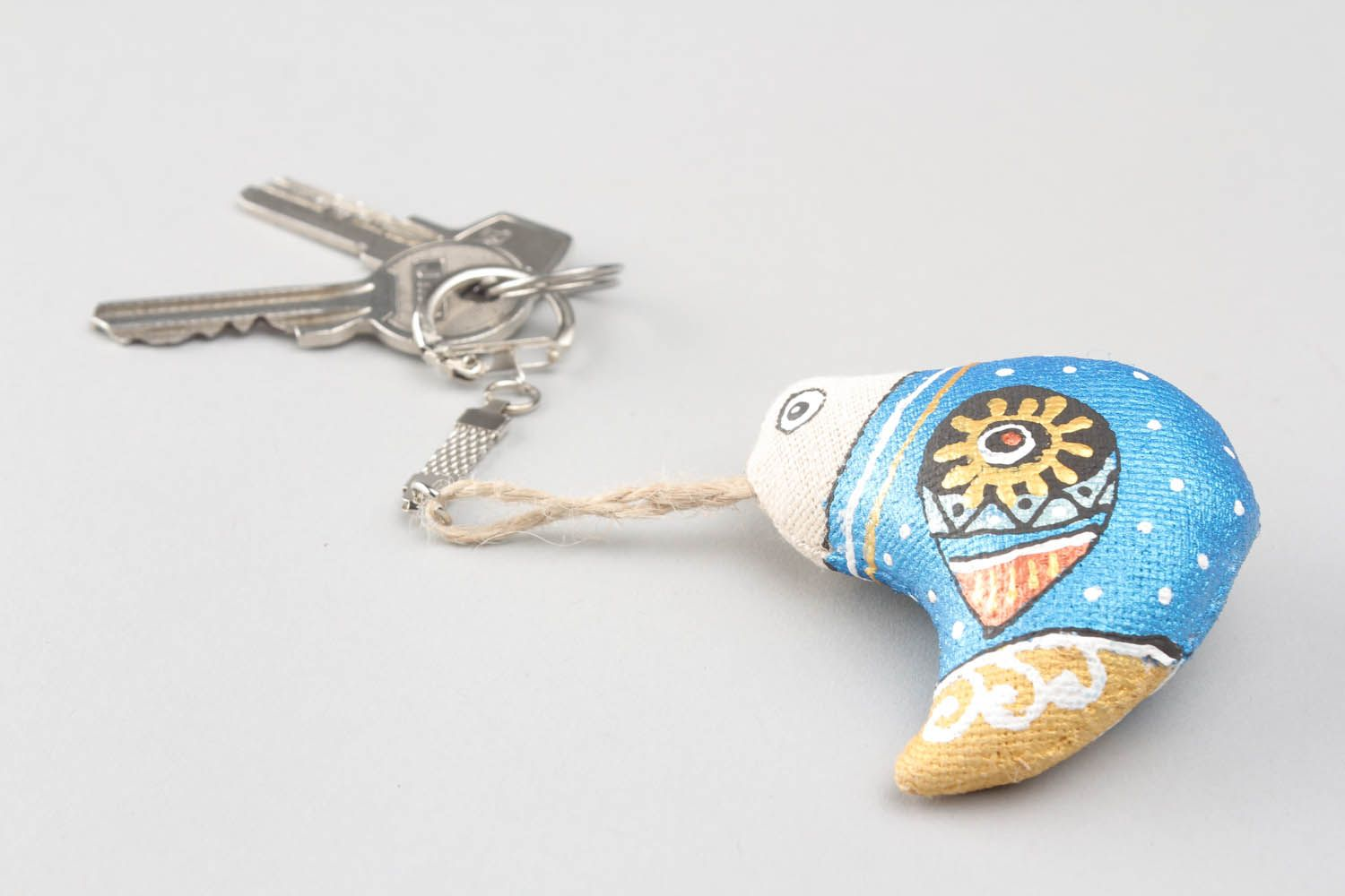 Keychain with soft filler photo 1