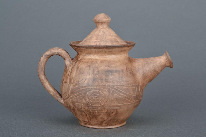 tea pots and coffee pots Clay teapot - MADEheart.com