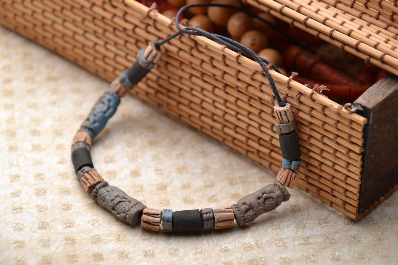 Ceramic bracelet in ethnic style photo 1