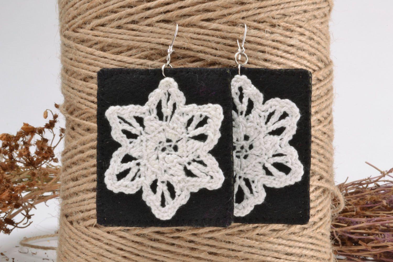Fabric earrings photo 1