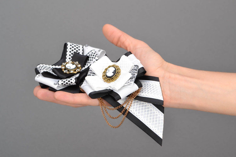 Haarklemmen-Set Brosche und Krawatte Eleganz foto 1