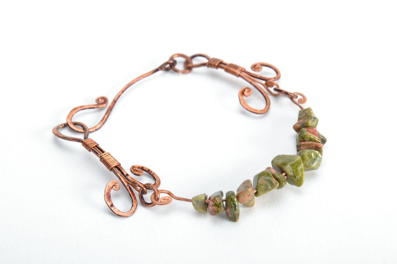 Kupfer Armband mit echtem Stein foto 5