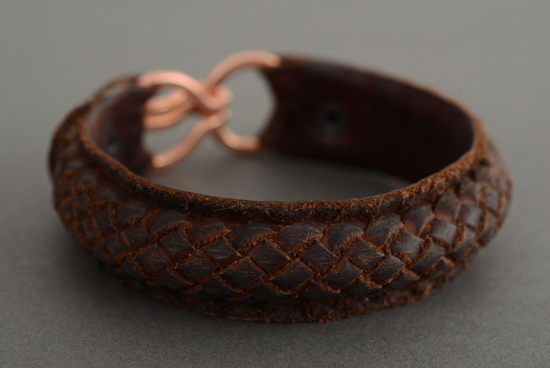 Leather braided bracelet photo 1