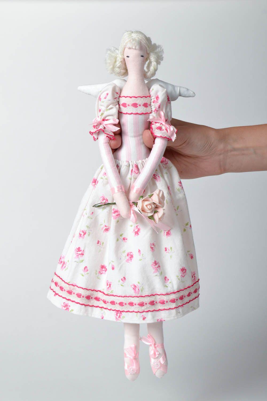 Interior doll made of natural fabrics photo 4