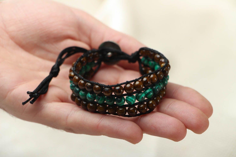 Designer bracelet with onyx and malachite photo 4