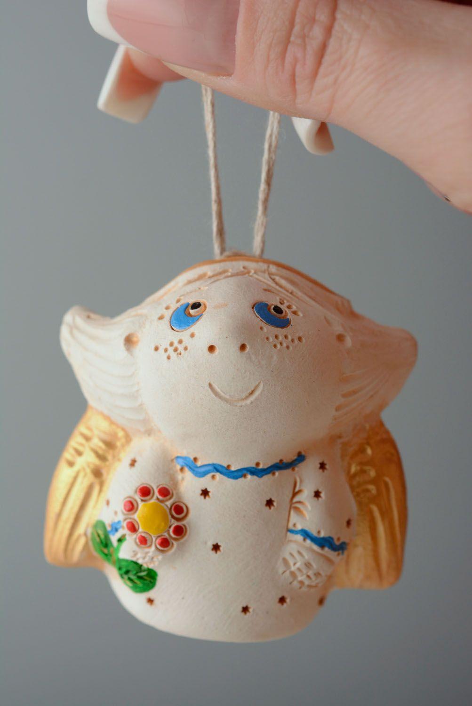 Handmade ceramic bell Angel photo 4