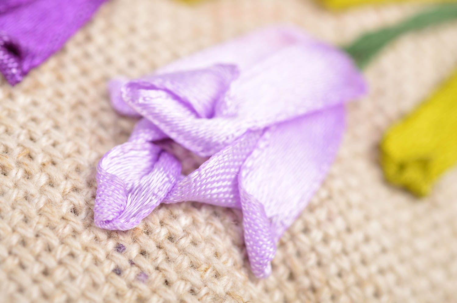 Beautiful small handmade scented linen fabric sachet pillow with embroidery photo 3