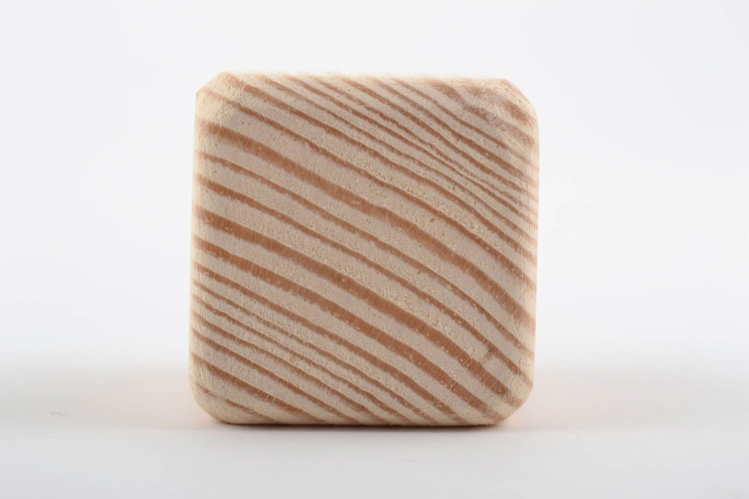 Handmade small pine wood craft blank for decoration cube toy art supplies photo 5