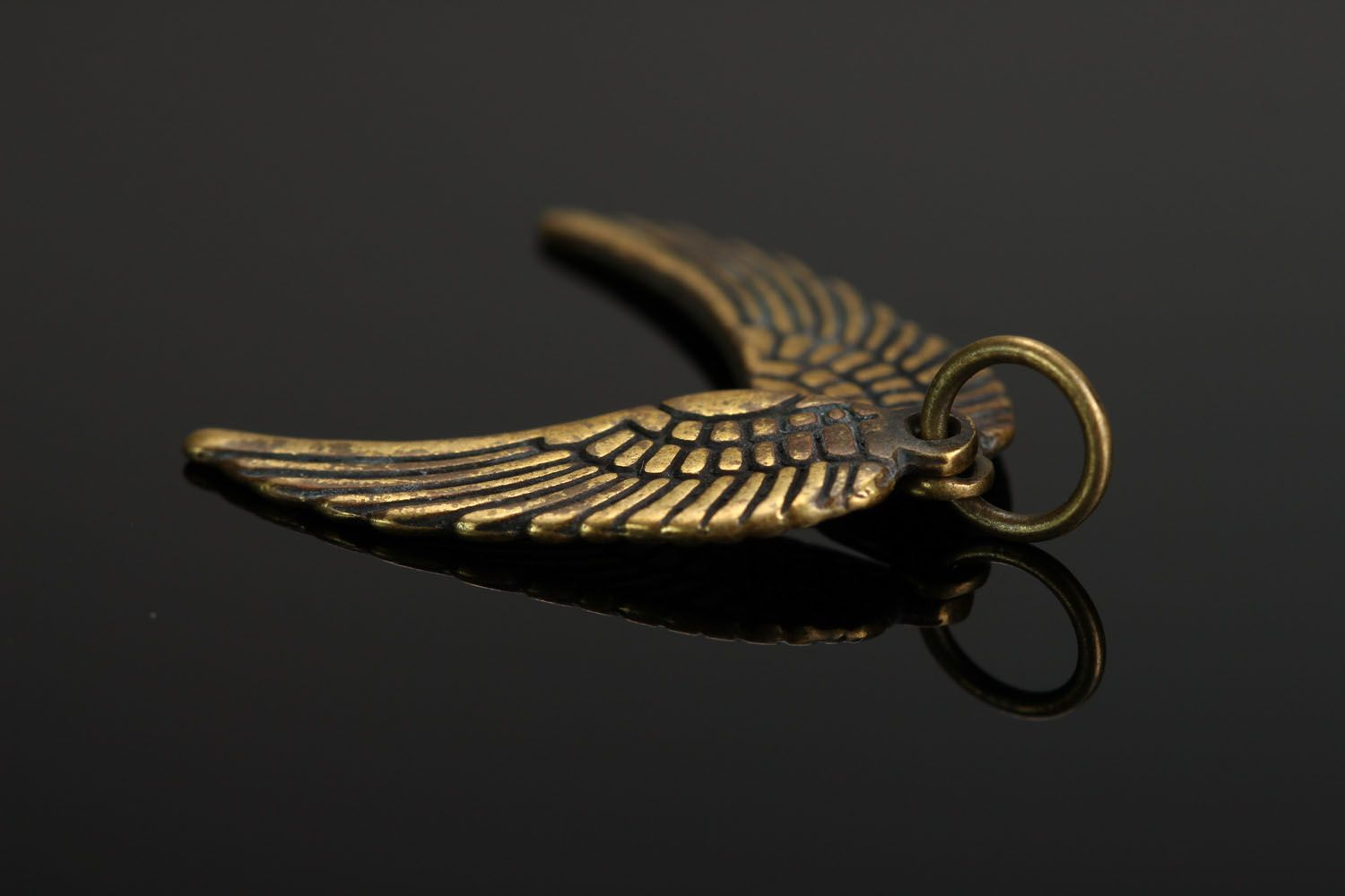 Bronze pendant Wings photo 2