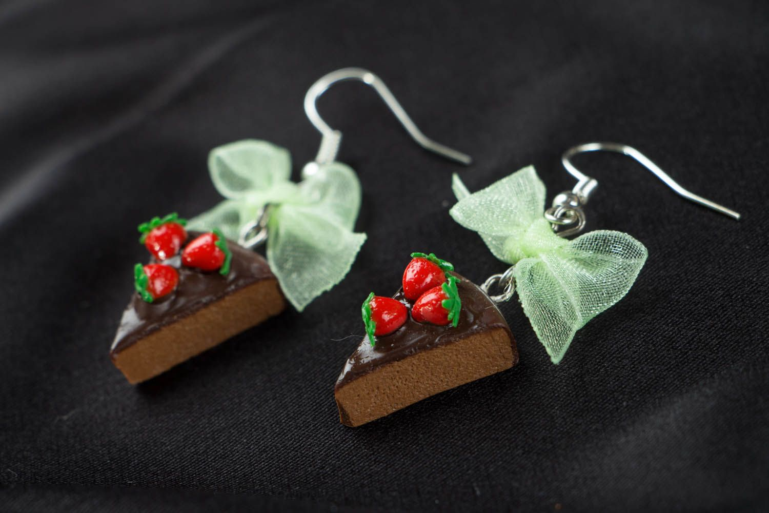 Polymer clay earrings Candies photo 2