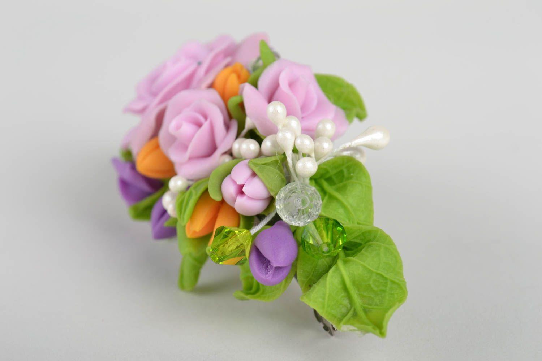 Haarspange Blume handmade Damen Modeschmuck Accessoire für Haare bunt schön foto 5