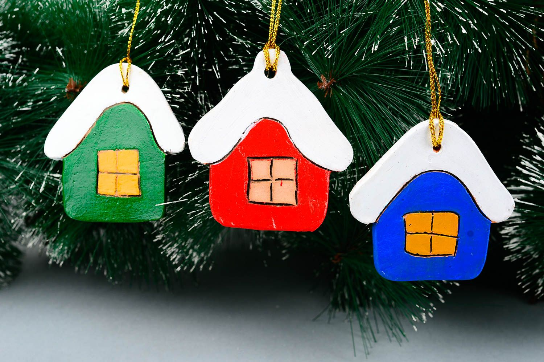 Christmas Tree Toys Handmade.Handmade Christmas Tree Toys Home Decor Ideas 3 Clay Toys Set Of Houses