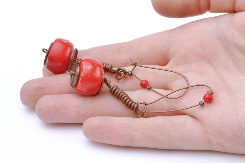 Copper earrings I'm so! photo 1